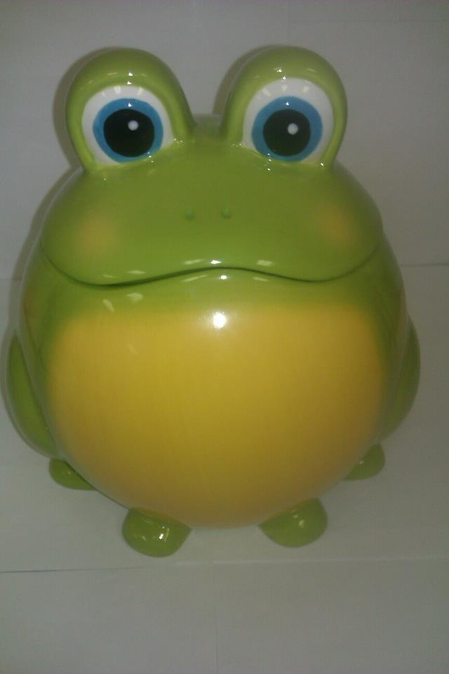 Frog Cookie Jar 29.99 Call 843-236-5230 if interested