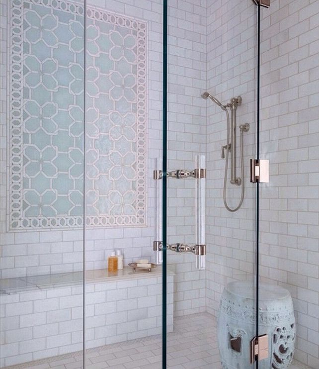 Shower Tiling Design  New Shower Tile Design Ideas  The Shower Tiles are  from Ann. 17 bedste id er til Shower Tiles p  Pinterest   Badev relse