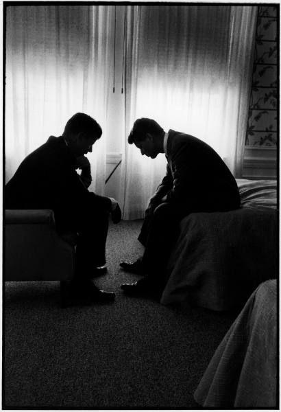 JFK and Bobby Kennedy.