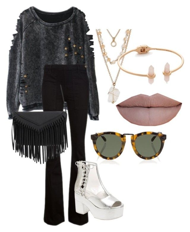 """S.S 23"" by biekatapang on Polyvore featuring Frame Denim, Jeffrey Campbell, Panacea, Rebecca Minkoff, Jeffree Star and Karen Walker"