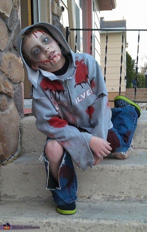 Click on photo and vote for My Kaden!! Child Zombie - 2013 Halloween Costume Contest via @costumeworks