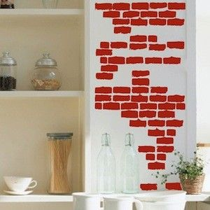 1000 images about wall decal ideas for furniture on for Brick wall decal mural