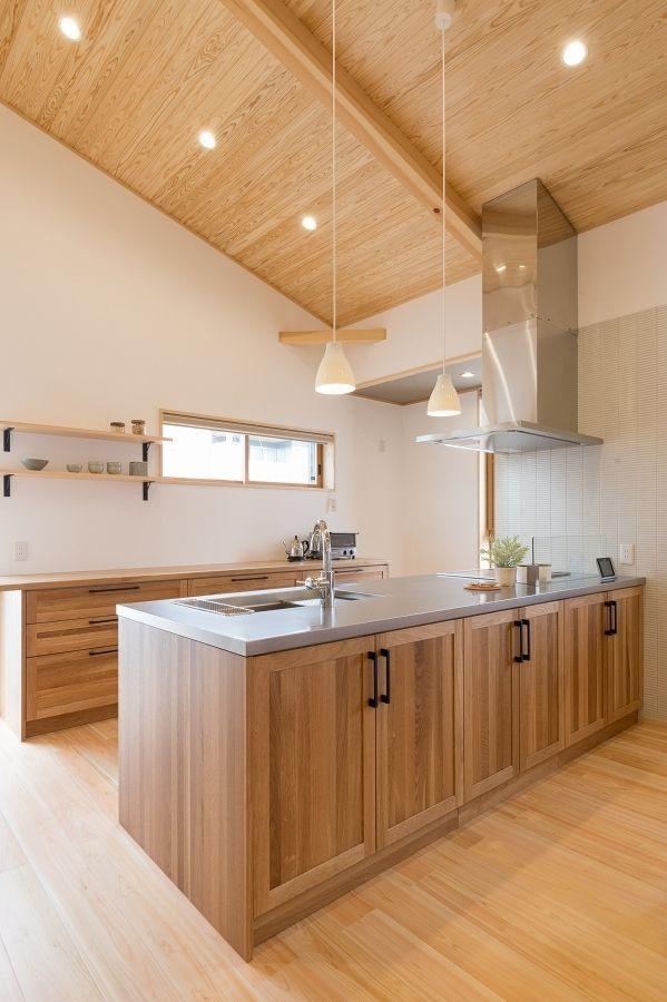 平屋モデルハウス リビング キッチン 注文住宅 インテリア ガラス