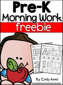 Pre-K Morning Work Letters, Numbers, 2-D Shapes Education, Lower Elementary, Primary