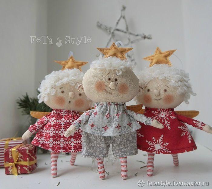 Купить Рождественская Звездочка Кукла текстильная Игрушка на Елку в интернет магазине на Ярмарке Мастеров