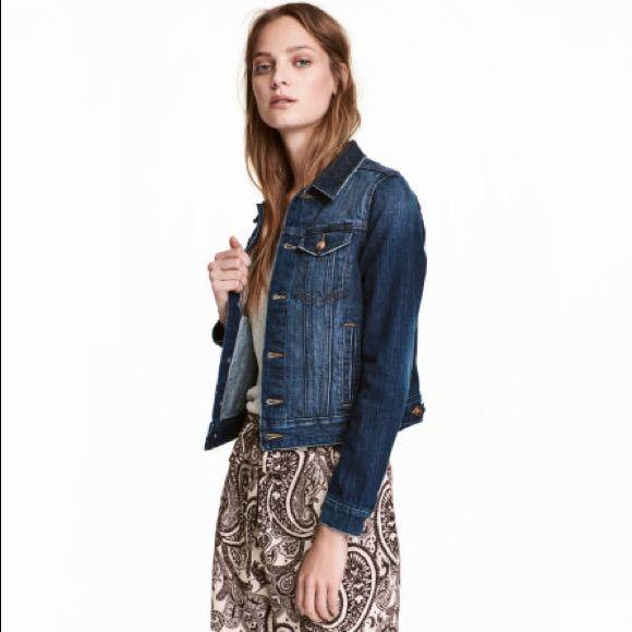 L.O.G.G. H&M Blue Medium Wash Jean Jacket Size 2