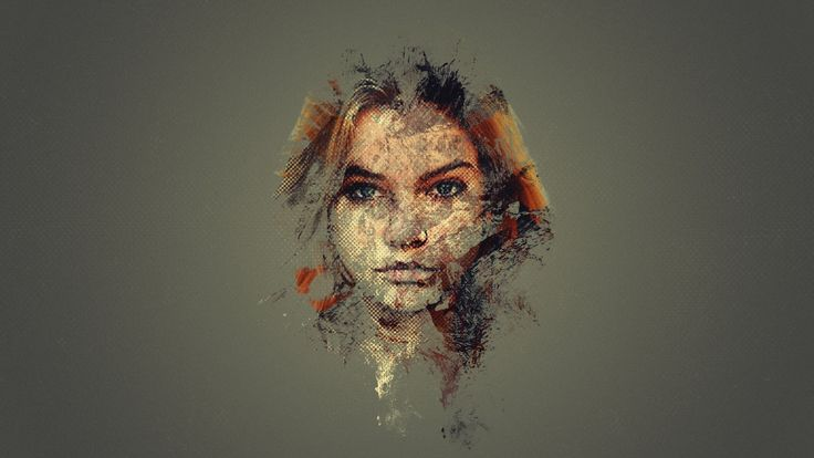 woman face illustration Barbara Palvin #face #Photoshop ...
