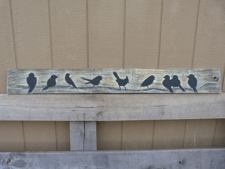 Farmhouse Style Yellow  Rustic Country Birds Silhoutte Wall Decor Distress Wood Panel Art Board Cottage Chic Singing Birds Wall hanging by RusticPrairieCottage on Etsy https://www.etsy.com/listing/90482528/farmhouse-style-yellow-rustic-country