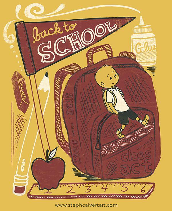 Steph Calvert/Back to School represented by Liz Sanders Agency
