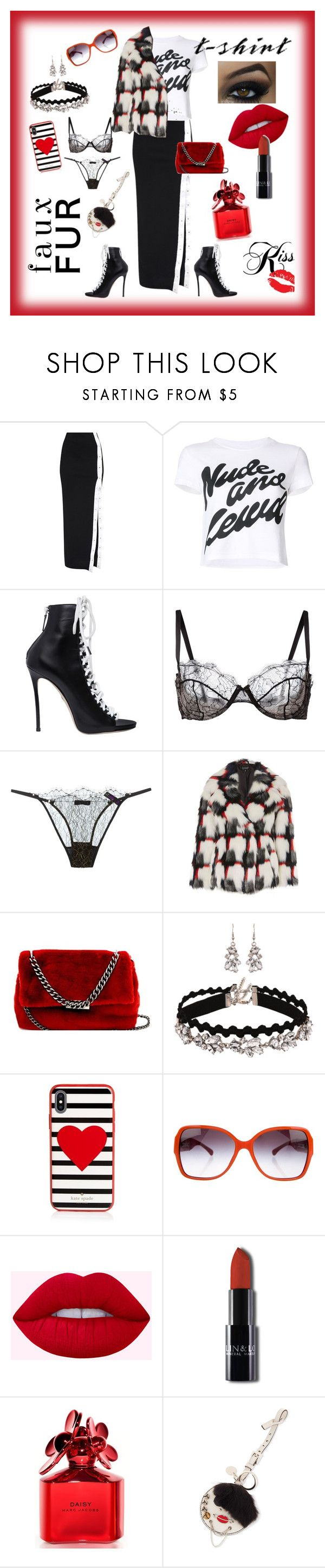 """Untitled #1427"" by gigiglow ❤ liked on Polyvore featuring House of Holland, Dsquared2, Fleur du Mal, Maison Close, Topshop, Bungalow 20, Kate Spade, Chanel, Marc Jacobs and Prada"