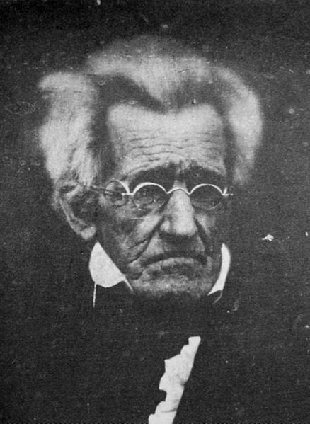 Andrew Jackson (1767-1845), seventh president of the United States (1829-1837), lived just long enough to have had a few photographic portraits taken.