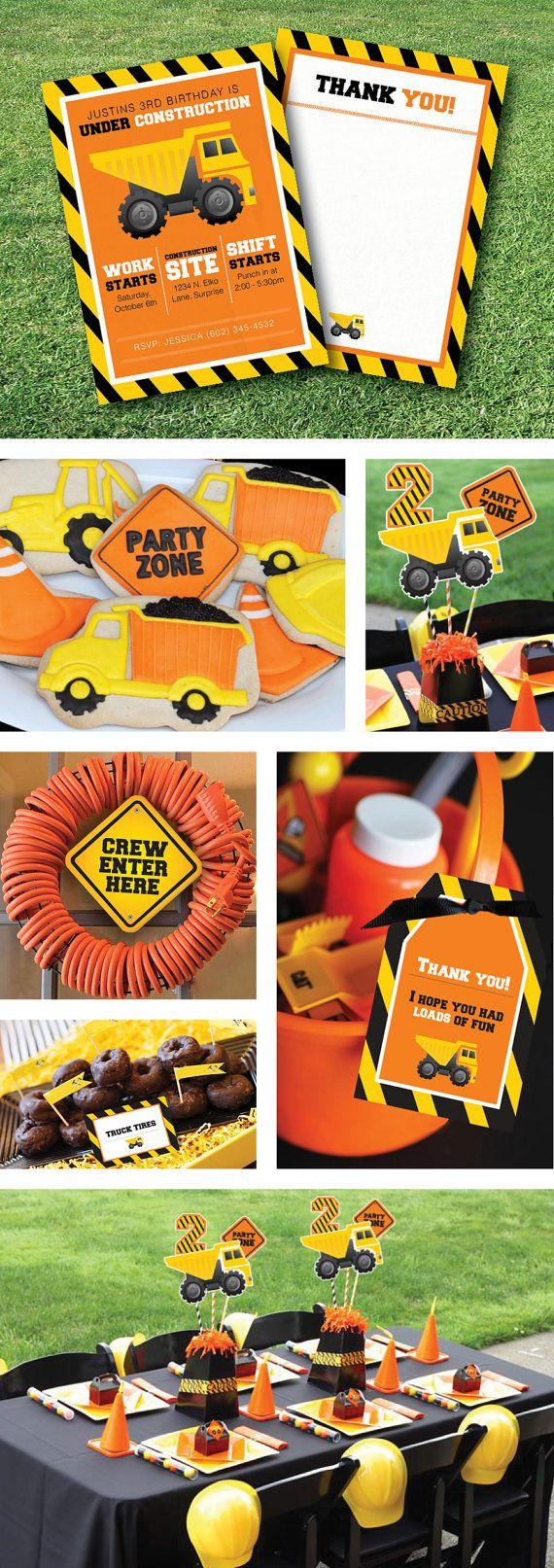 Under Construction Birthday Party, Invitation by GardellaGlobal, $6.00
