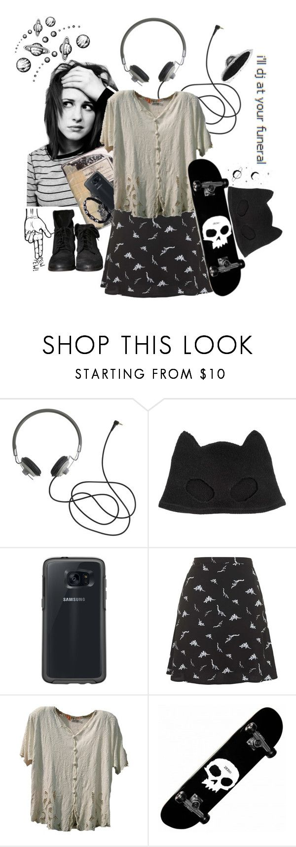 """""""°°••""""I'll dj at your funeral.""""••°°"""" by psycho-avatar ❤ liked on Polyvore featuring Silver Spoon Attire, Plane, OtterBox, Topshop, Zara and Theory"""
