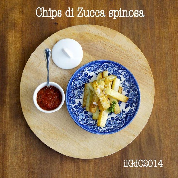 il giardino dei ciliegi: Chips di zucca spinosa e salsa piccante