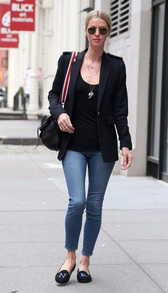 Nicky Hilton Smoking Slippers - Nicky Hilton finished off her look with an adorable pair of personalized smoking slippers.
