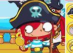 Questo pirata non ha molta voglia di lavorare e fa di tutto per divertirsi. L'unico problema è che Barba Nera la sorveglia quindi, devi essere astuto per non farti beccare!