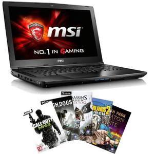 "MSI PC Portable Gamer GL62 6QF-1606XFR + 5 jeux PC offerts - 15,6"" HD - 8Go RAM - Sans OS - Intel Core i5 - GTX 960M - 1To"