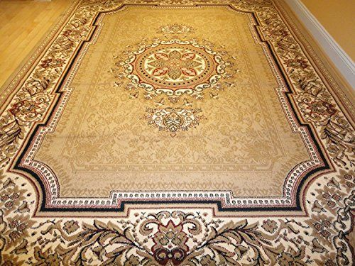 New Persian Tabriz Style Beige Rug 8x11 Area Traditional 5x8 Carpet Brown 5x7 Rugs