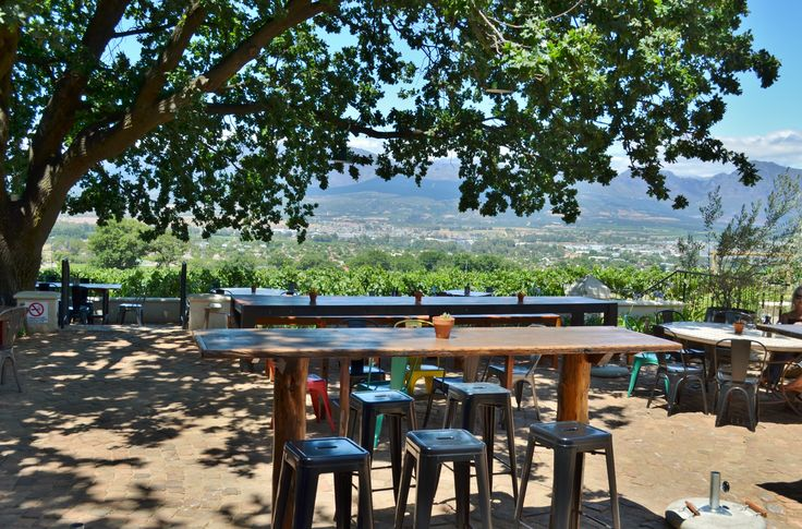 The #eatery in #Paarl with probably some of the best views of the #PaarlValley - Blacksmith's Kitchen. Located against the slopes of #Paarlmountain on the #PearlMountain farm.