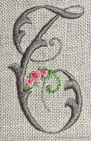 Inspiration - embroidered monogram