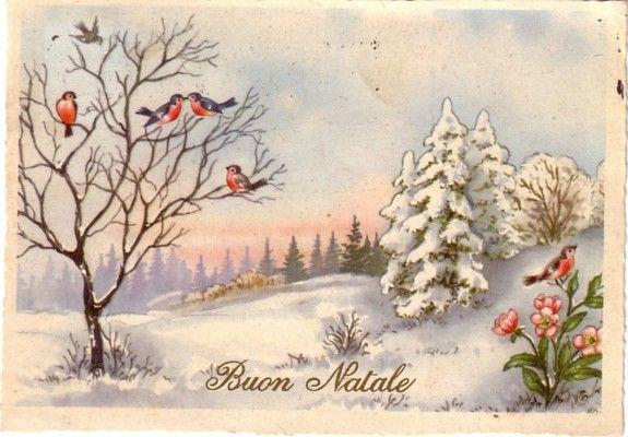Cartolina buon natale e buon anno pinterest natale for Cartoline di auguri per natale