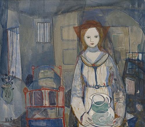 Fjell, Kai (1907-1989) : Kvinne med vannmugge