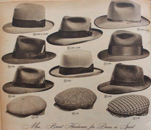 1950s mens hats