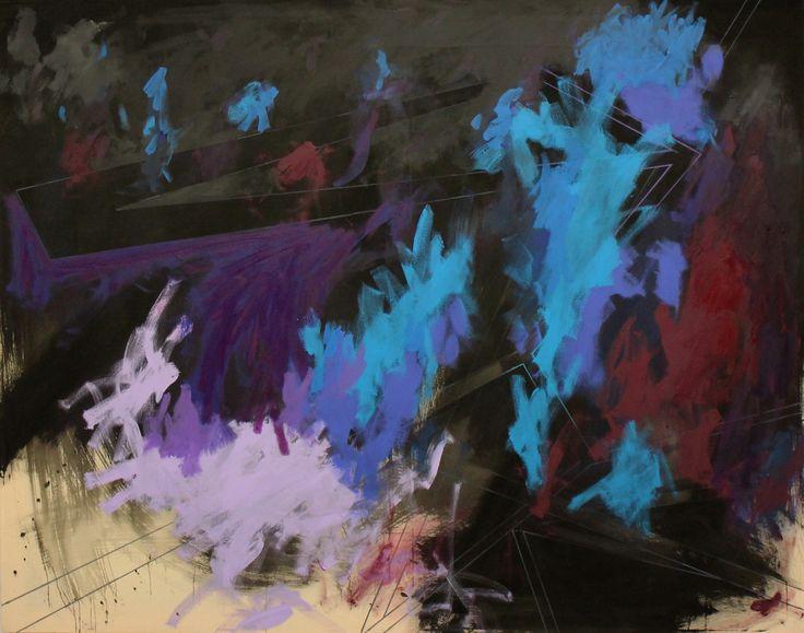 Galaxy - Jeroen Molenaar.  Acrylic, oilbar and paint marker on canvas. 140 x 160 cm, 2015.