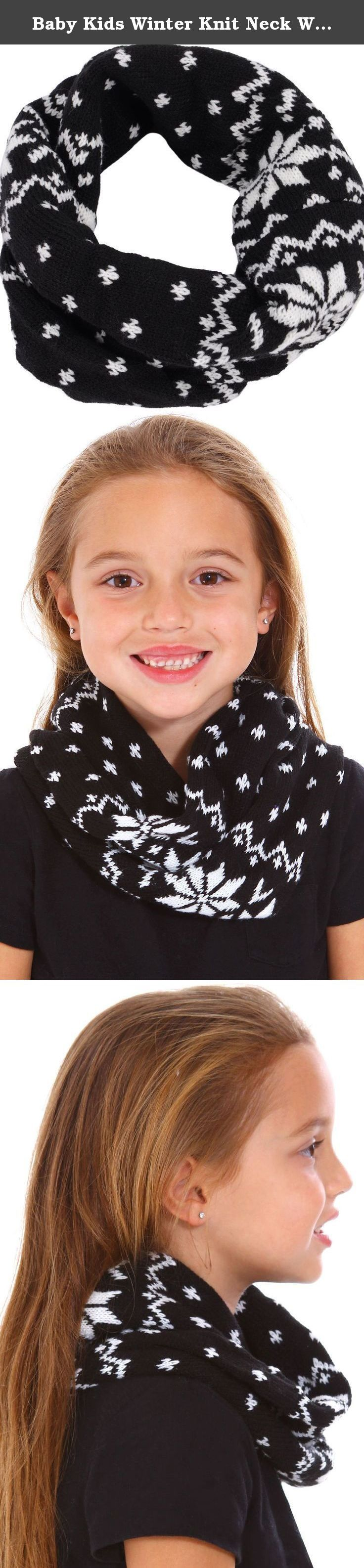 "Baby Kids Winter Knit Neck Warms Toddler Infinity Scarves Circle Round Shawl,Blk. Children's infinity scarf is perfect for the winter season ! Available in cute festive colors and designs. Material: Knit Flat Size: 10""Long x 7"" Width Package Includes: 1 x Children's Scarf."