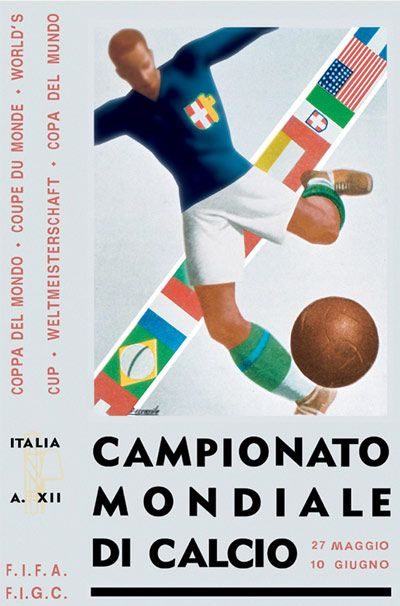 Italy 1934 World Cup Poster