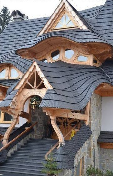 This is mighty impressive roof work from Zakopane, Poland. This building specifically is a hotel in a ski resort town near the Tatra mountains. I keep going back to look at this image to wonder who had the patience to lay those wooden shingles out so beautifully and precisely. Anyway, this image is a good […]