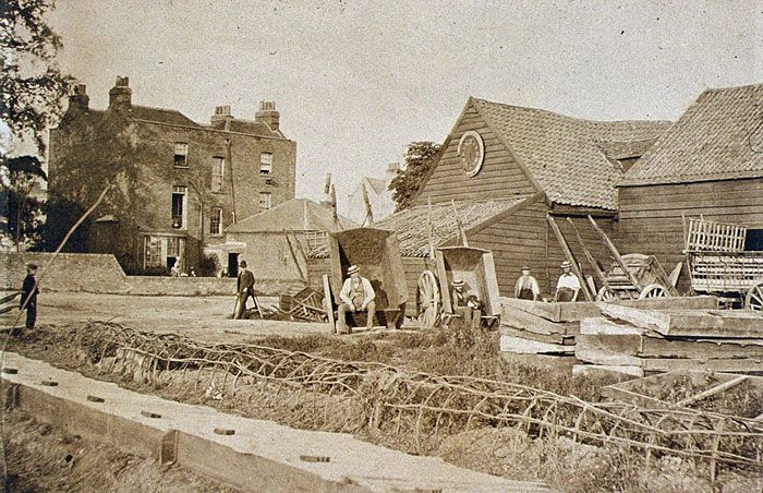 Earls Court London - about 150 years ago ... when it was all market gardens.