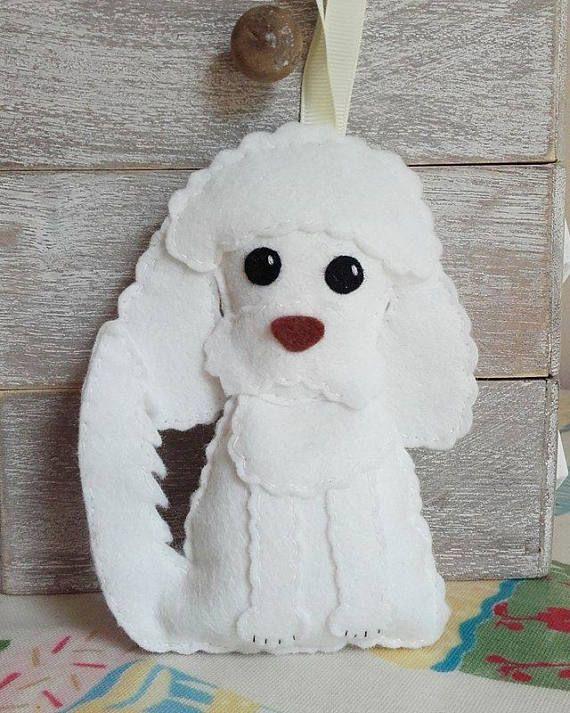 Felt Poodle Decoration Made to Order Poodle Decoration Pet