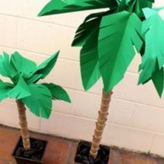 How to make a Paper palm trees
