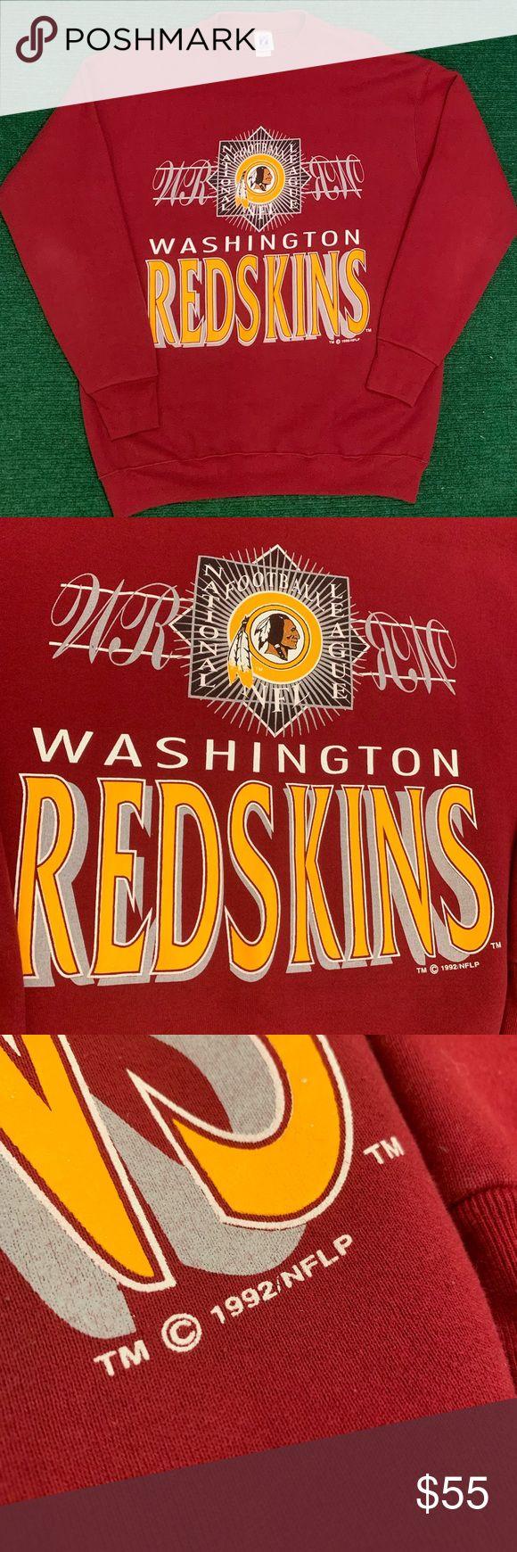 Vintage 90s Logo 7 Redskins sweatshirt in 2020 Vintage