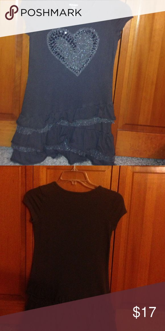 Heart Grey Summer Dress Grey summer Dress with heart on the front with gems. Great for summer Old Navy Dresses Casual