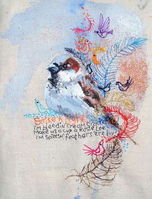 Paint and embroidery Multimedia Cockney Lesson by Mimilove forever on flickr