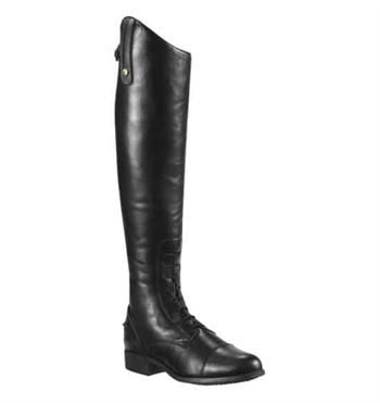 ARIAT HERITAGE CONTOUR ZIP FIELD BOOT  Traditionally-styled in full-grain leather, leather lining for calf support, full-length elasticized side panel and an elastic gusset on the inside of the knee. Black. Sizes: 6.5 - 10 (Available in varying heights and calf widths). DRB7886   www.greenhawk.com