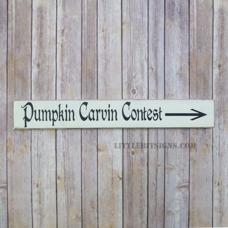 Pumpkin Carving Contest Halloween Wood Sign, Fall Decor, SKU-413