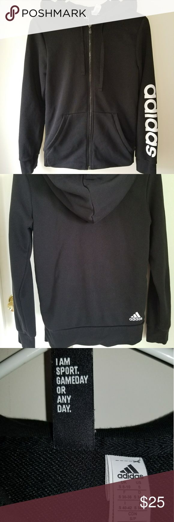 ADIDAS Zip up Size Small pre-owned Pre-owned, great condition. adidas Tops Sweatshirts & Hoodies