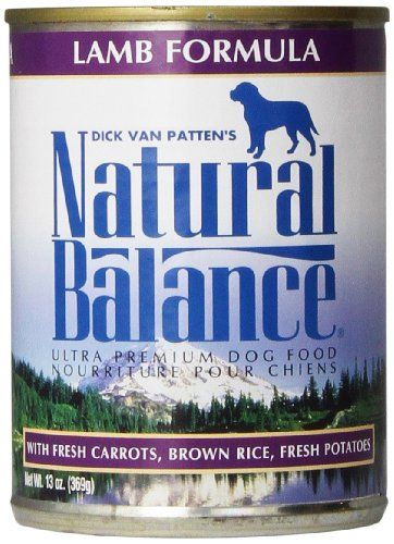 Natural Balance Ultra Premium Canned Wet Dog Food, Lamb Formula, 13-Ounce (Pack of 12) - Natural Balance© Ultra-Premium Canned Dog Food is a complete and balanced premium dog food which contains a superior mixture of animal and grain products. This unique blend assures a high digestibility and contains all of the nutrients, vitamins and minerals necessary for your dog.