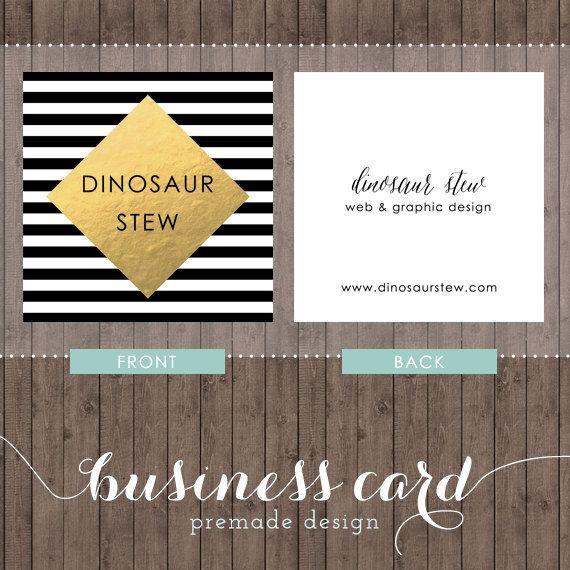 Square Business Card Design Gold Foil We Design You Print Etsy Business Card Design Square Business Cards Design Graphic Design Business Card