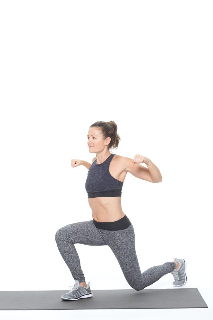 Work Your Arms and Legs Together With This Lunge Variation
