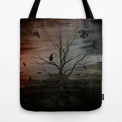 raven eyes Tote Bag by Oscar Tello Muñoz - $22.00