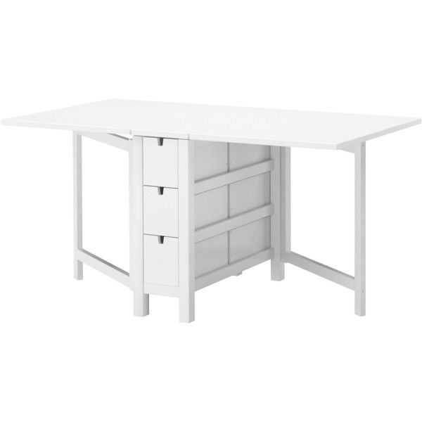 IKEA NORDEN Gateleg Table, White (1 770 SEK) ❤ Liked On Polyvore Featuring