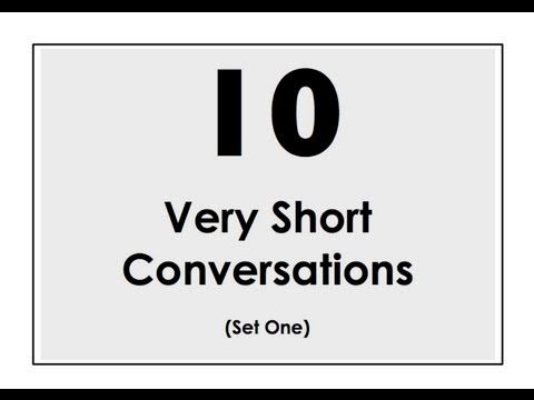 10 Very Short Conversations to Learn English. Set One. Easy English Conversation Practice.