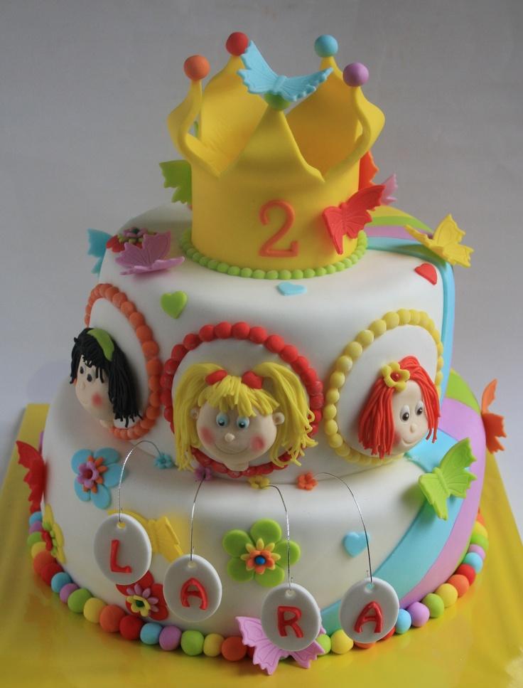 Wow dit is echt een te gekke K3 taart!