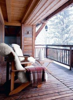 R U S T I C ✜ comfort on the cabin porch!