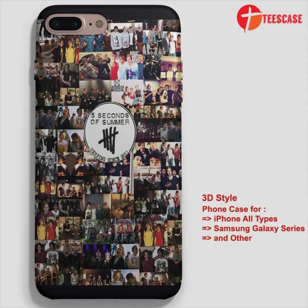 5 Seconds Of Summer Collage 5sos Ashton  iPhone 7-7 Plus Case, iPhone 6-6S Plus, iPhone 5 5S SE, Samsung Galaxy S8 S7 S6 Cases and Other