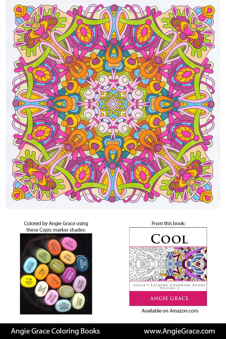 Art color book - Angie Grace Coloring Books Colored By Angie With Copic Sketch Markers Http